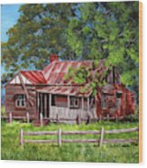 Abandoned Old Farm House Wood Print