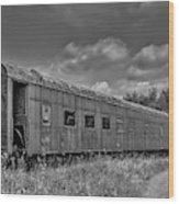 Abandoned Railroad Car In Rural New Brunswick Wood Print