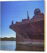 Abandoned Ship Wood Print