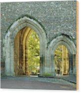 Abbey Gateway St Albans Hertfordshire Wood Print