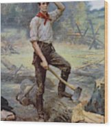 Abe Lincoln The Rail Splitter  Wood Print