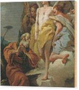 Abraham Y Los Tres Angeles  X   Cm  Wood Print