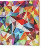 Abstract Colorful Geometrical Background Wood Print