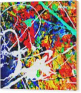 abstract composition K12 Wood Print