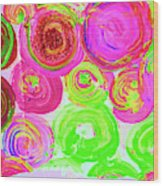 Abstract Flower Crowd Wood Print
