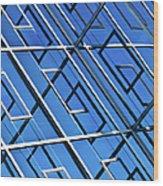 Abstract Geometric Reflection Wood Print