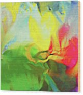 Abstract In Full Bloom Wood Print