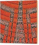 Abstract Oranges Blacks Browns Yellows Rows Columns Angles 3152019 5476 Wood Print