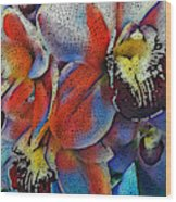 Abstract Orchids.  Wood Print