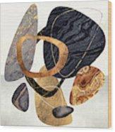 Abstract Pebbles IIi Wood Print