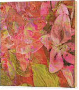 Abstract Pink Lilies Wood Print