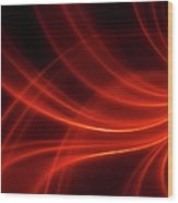 Abstract Red Dynamic Lines Backgrounds Wood Print