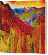 Abstract Scenic 3 Wood Print