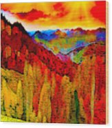 Abstract Scenic 3a Wood Print
