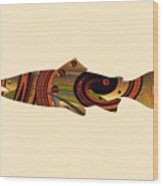 Abstract Trout Wood Print