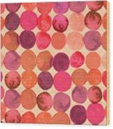 Abstract Watercolored Geometric Circles Wood Print