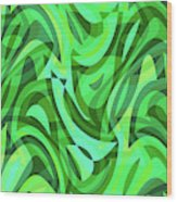 Abstract Waves Painting 0010075 Wood Print