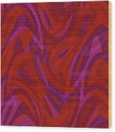 Abstract Waves Painting 0010080 Wood Print