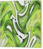 Abstract Waves Painting 0010081 Wood Print