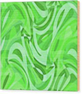 Abstract Waves Painting 0010086 Wood Print