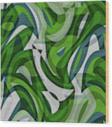 Abstract Waves Painting 0010087 Wood Print