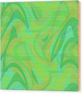 Abstract Waves Painting 0010089 Wood Print