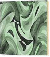 Abstract Waves Painting 0010095 Wood Print
