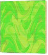 Abstract Waves Painting 0010099 Wood Print