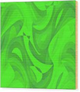 Abstract Waves Painting 0010100 Wood Print