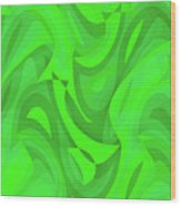 Abstract Waves Painting 0010101 Wood Print