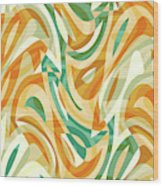 Abstract Waves Painting 0010105 Wood Print