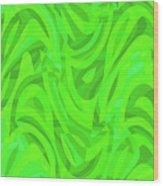 Abstract Waves Painting 0010106 Wood Print