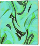 Abstract Waves Painting 0010107 Wood Print