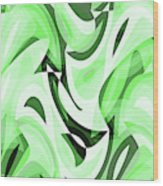 Abstract Waves Painting 0010108 Wood Print