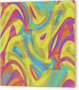 Abstract Waves Painting 0010109 Wood Print