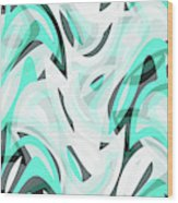 Abstract Waves Painting 0010111 Wood Print