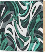 Abstract Waves Painting 0010112 Wood Print