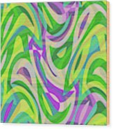 Abstract Waves Painting 0010113 Wood Print