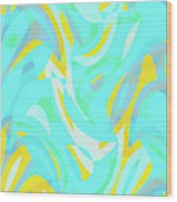 Abstract Waves Painting 0010114 Wood Print