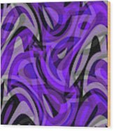 Abstract Waves Painting 0010115 Wood Print