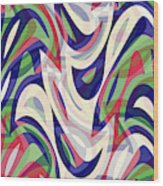 Abstract Waves Painting 0010118 Wood Print