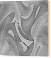 Abstract Waves Painting 0010119 Wood Print