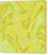 Abstract Waves Painting 0010121 Wood Print