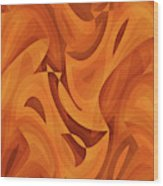 Abstract Waves Painting 001451 Wood Print