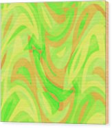 Abstract Waves Painting 007178 Wood Print