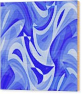 Abstract Waves Painting 007183 Wood Print