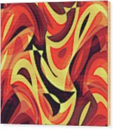 Abstract Waves Painting 007185 Wood Print