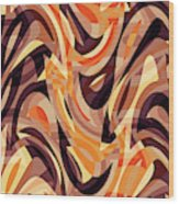 Abstract Waves Painting 007187 Wood Print