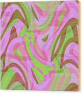 Abstract Waves Painting 007188 Wood Print