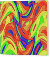 Abstract Waves Painting 007192 Wood Print